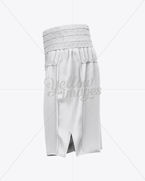 Two Panel Boxing Shorts Mockup - Side View