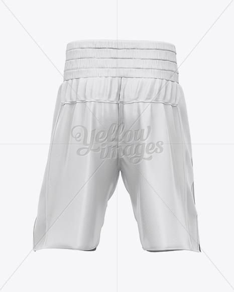 Two Panel Boxing Shorts Mockup - Back View