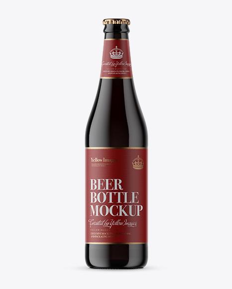 Download Dark Glass Beer Bottle Mockup Object Mockups