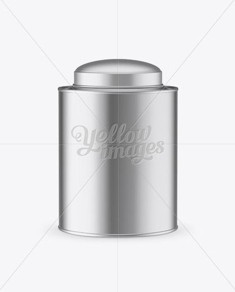 Metallic Tea Tin Can Mockup