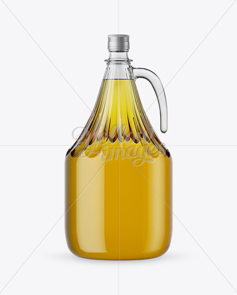 Download 3l Clear Glass Olive Oil Bottle With Handle Mockup In Bottle Mockups On Yellow Images Object Mockups Yellowimages Mockups