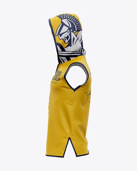Boxing Ring Jacket Mockup - Side View