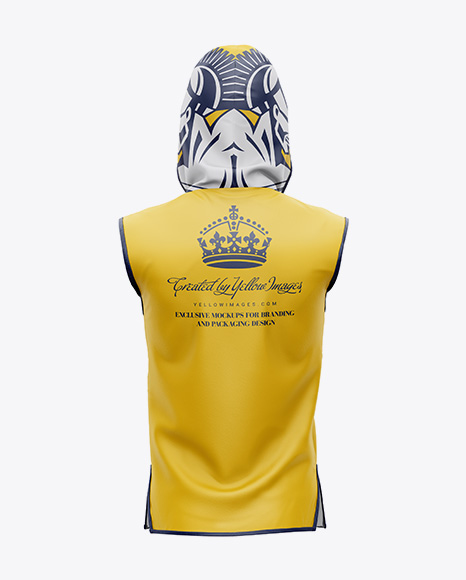 Boxing Ring Jacket Mockup - Back View