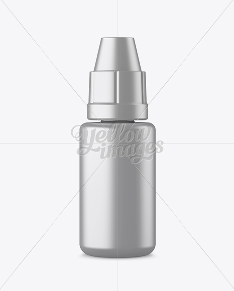 Metallic Plastic Dropper Bottle Mockup