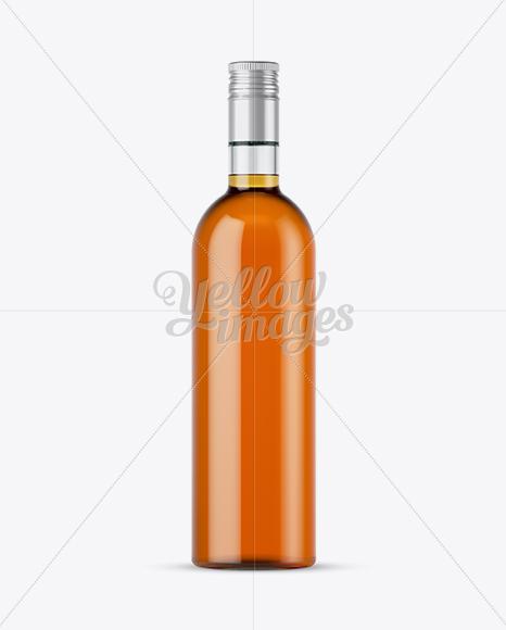 Download 500 Ml Clear Glass Liqueur Bottle Mockup PSD - Free PSD Mockup Templates