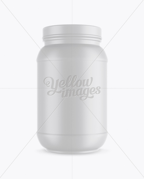 32oz Matte Protein Jar Mockup