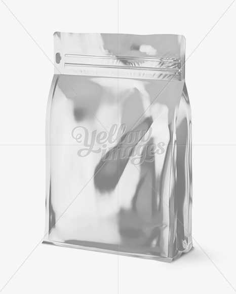 Download Metallic Mailing Bag Mockup Half Side View PSD - Free PSD Mockup Templates