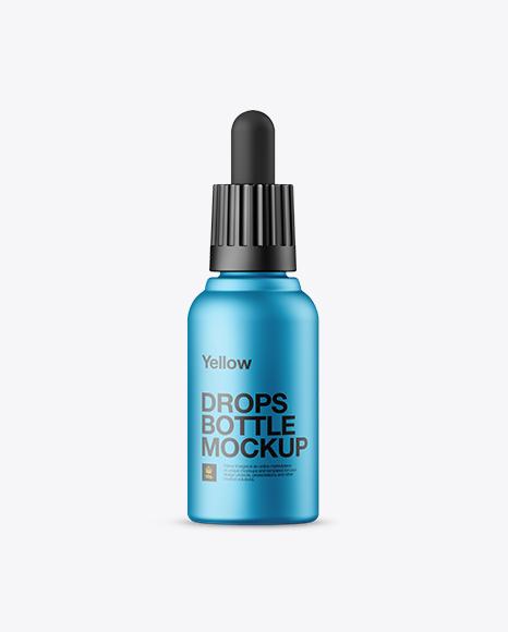 Download Metallic Dropper Bottle Mockup Object Mockups