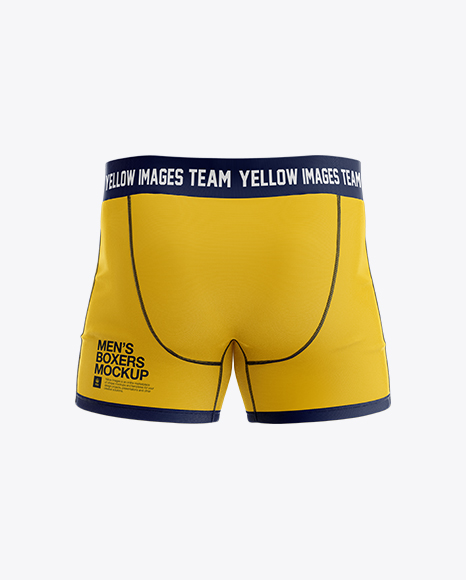 Download Free Boxer Briefs Mockup - Back View PSD Template