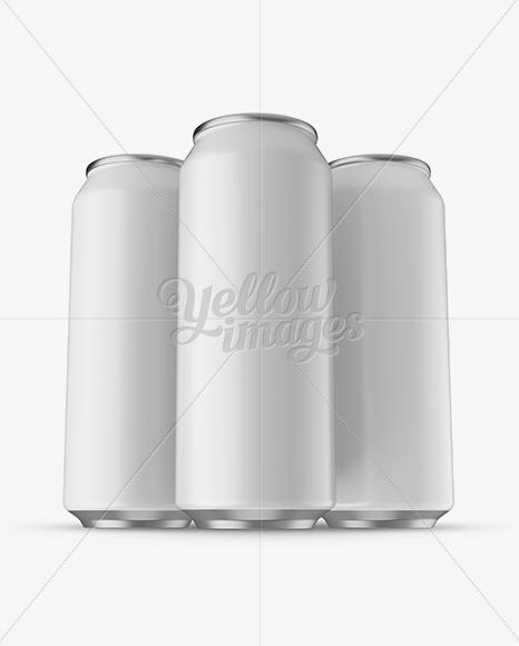 Download Two 500ml Aluminium Cans Glossy Finish Mockup PSD - Free PSD Mockup Templates