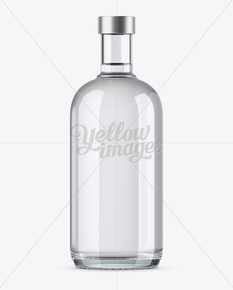 700ml Clear Glass Vodka Bottle Mockup