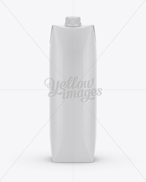 1L Matte Carton Box Mockup - Front View