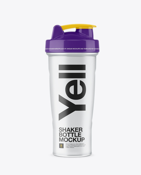 Download Free Transparent Shaker Bottle - Front View PSD Template