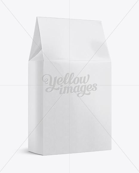 Glossy Paper Box Mockup - Halfside View