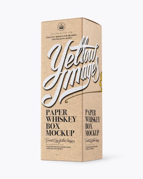 Download Kraft Paper Whisky Box Mockup - Halfside View Object Mockups