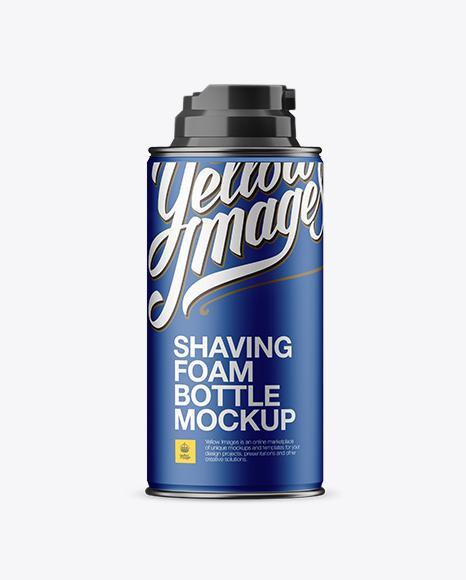 Download Metallic Shaving Foam Bottle Mockup Object Mockups