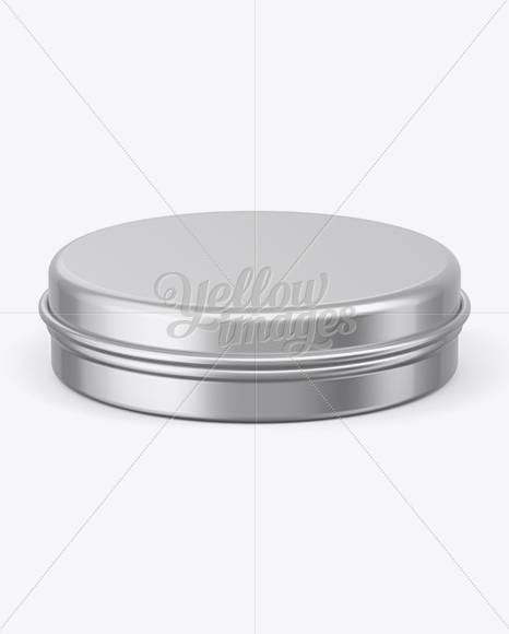 Download Metal Round Tin Can Mockup Front View In Can Mockups On Yellow Images Object Mockups PSD Mockup Templates