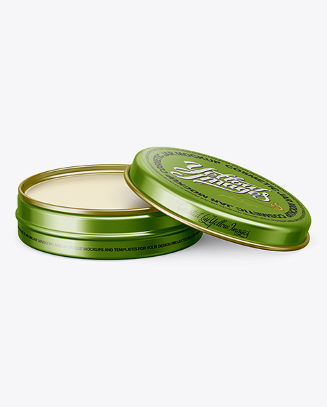 Download Metal Round Lip Balm Tin Mockup - Front View Object Mockups