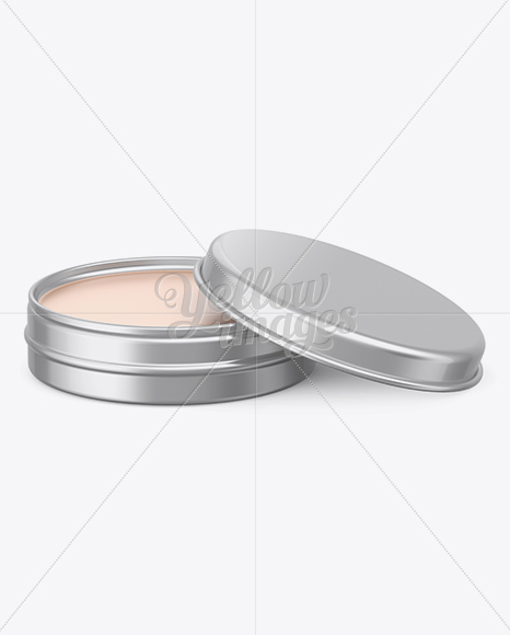 Download Metal Round Lip Balm Tin Mockup Front View In Can Mockups On Yellow Images Object Mockups PSD Mockup Templates