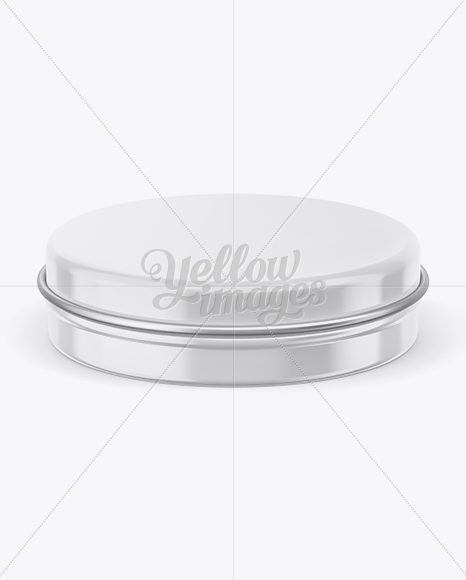Round Tin Can Mockup - Front View