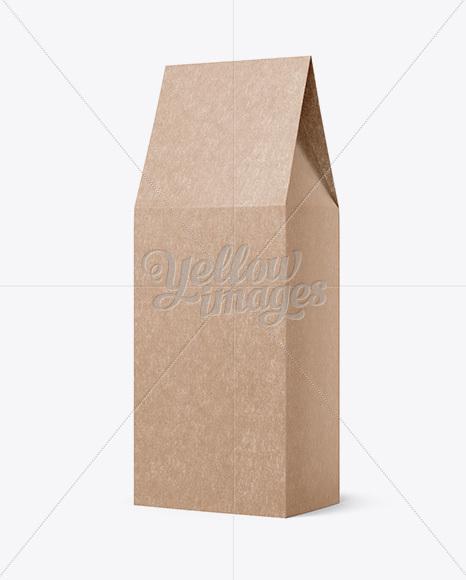 Kraft Paper Box Mockup - Halfside View