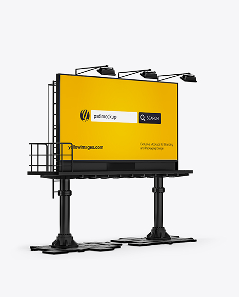 Billboard Mockup - Halfside View