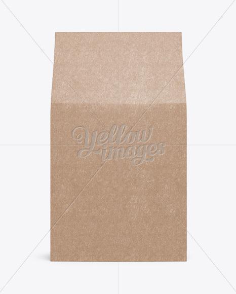 Kraft Paper Box Mockup - Front View