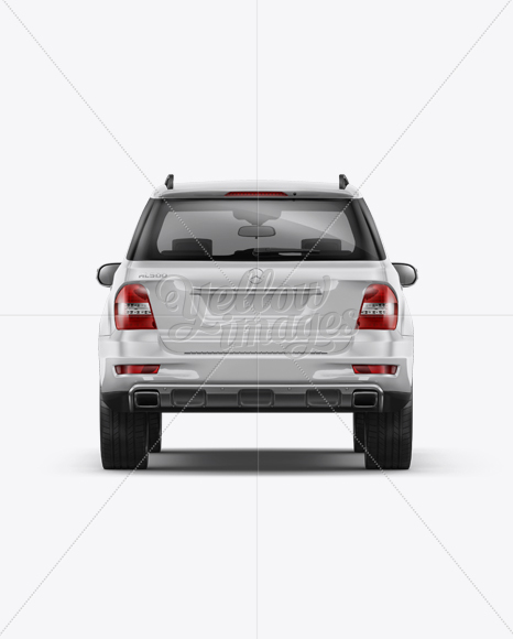 Mercedes-Benz ML Mockup - Back Side View