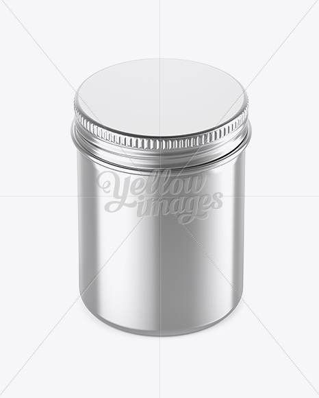 Download 50ml Matte Metallic Cream Jar Mockup High Angle Shot PSD - Free PSD Mockup Templates