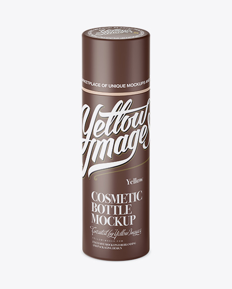 Download Free Matte Cream Bottle Mockup - High-Angle Shot PSD Template