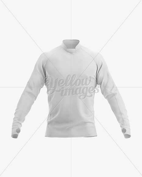 Long Sleeve Jersey Mockup - Front View