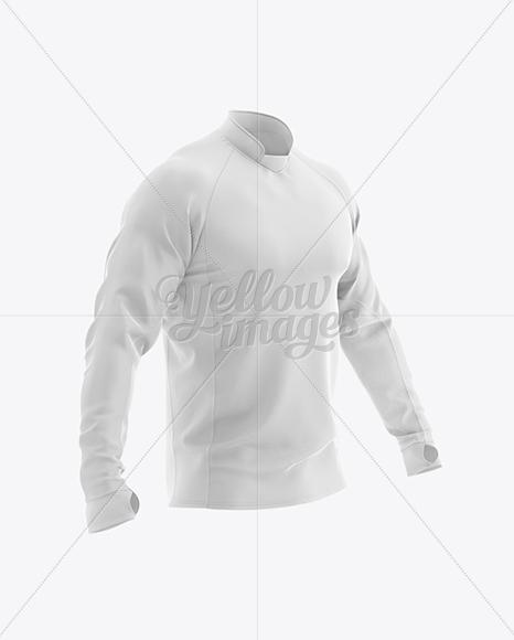 Long Sleeve Jersey Mockup - Half Side View
