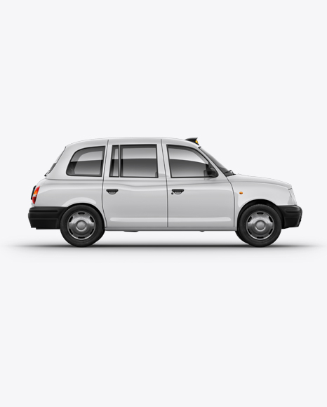 Download London Cab Right View Mockup In Vehicle Mockups On Yellow Images Object Mockups PSD Mockup Templates