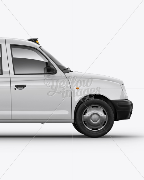 London Cab Right view Mockup
