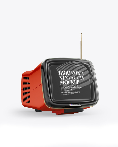 Download Brionvega Vintage Tv Mockup - Half Side View Object Mockups