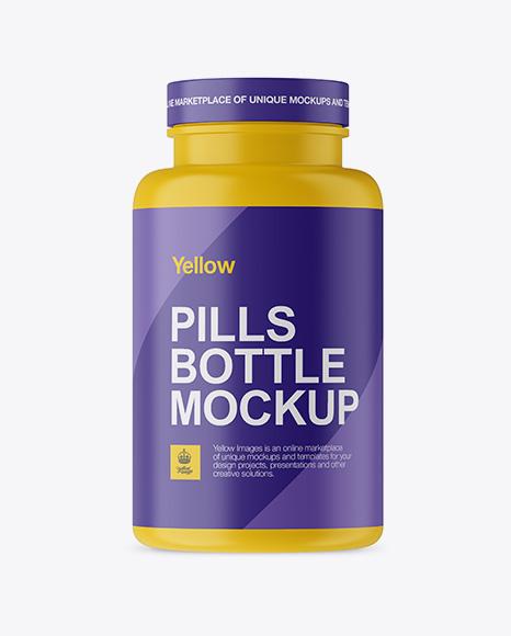 Download Matte Plastic Pills Bottle Mockup Object Mockups