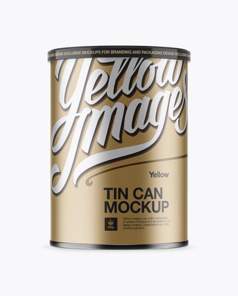 Download Metallic Tin Can Mockup Object Mockups