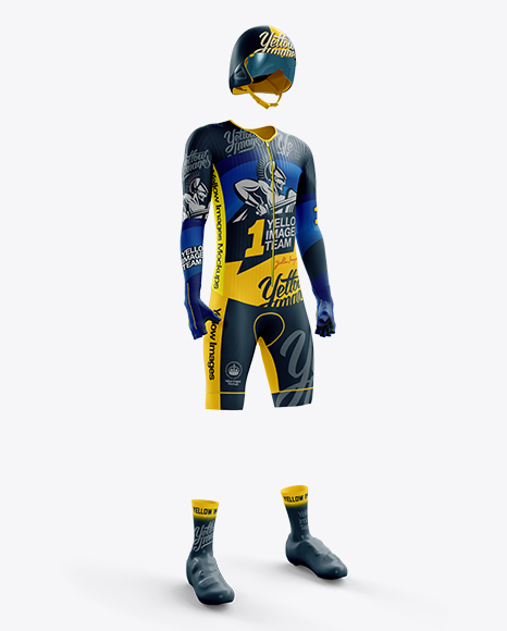 Download Mens Full Wetsuit Mockup Hero Back Shot Yellow Images