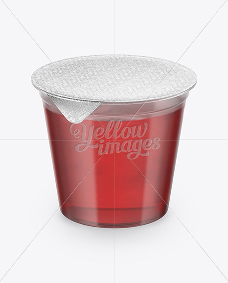 Download Plastic Soup Cup Front View High Angle Shot PSD - Free PSD Mockup Templates