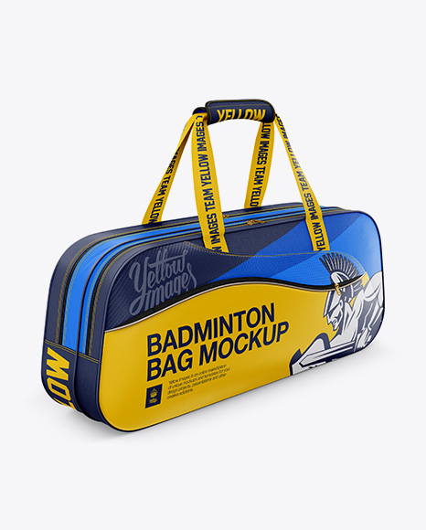 Badminton Bag Mockup Half Side View In Apparel Mockups On Yellow