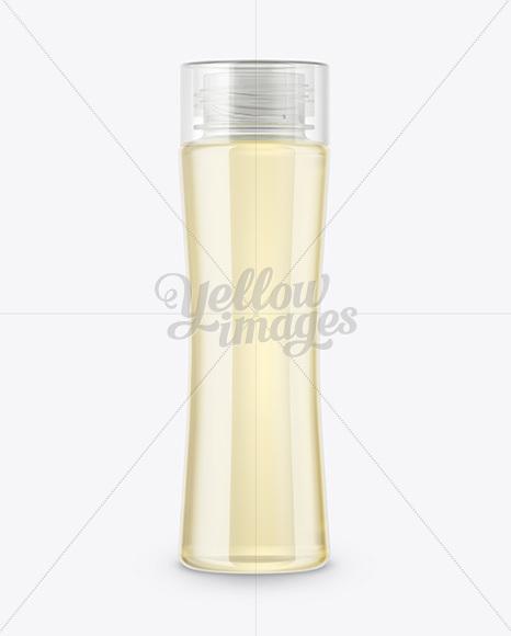 Clear Glass Drink Bottle Mockup In Bottle Mockups On Yellow