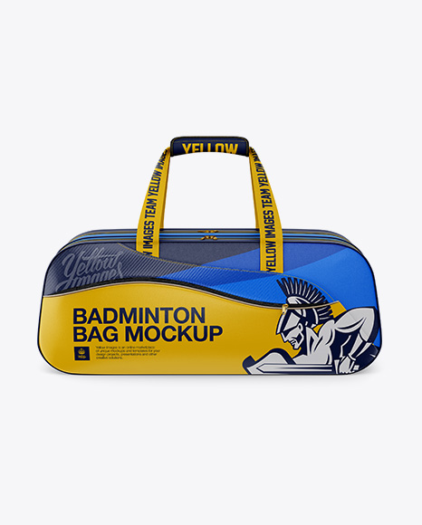 Download Badminton Bag Mockup Half Side View Yellow Images