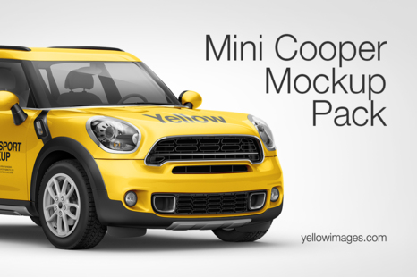 Mini Cooper Countryman Hq Mockup Pack In Handpicked Sets Of