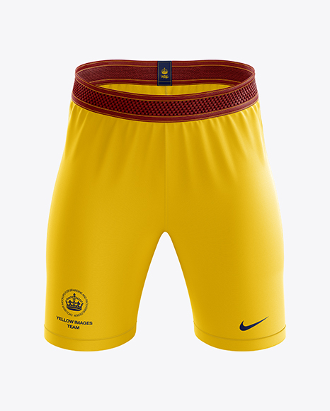 Men's Soccer Shorts mockup (Front View)