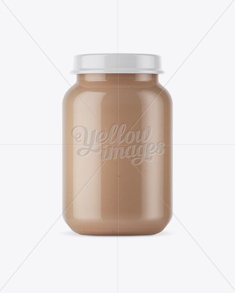 Download 100ml Amber Glass Jam Jar Clamp Lid Mockup Halfside View PSD - Free PSD Mockup Templates
