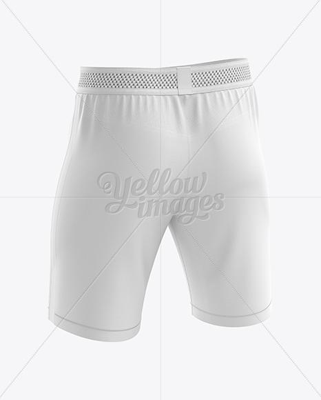 Men's Soccer Shorts mockup (Back Half Side View)