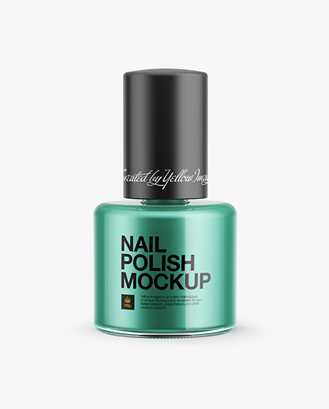 Download Nail Polish Bottle with Matte Cap Mockup - Front View Object Mockups