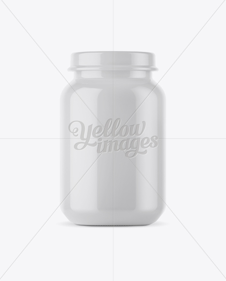 Download 100ml Glass Mustard Jar Clamp Lid Mockup PSD - Free PSD Mockup Templates