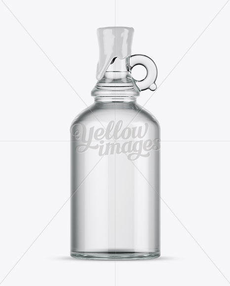 Download Clear Glass Bottle With Handle Wax Top Mockup In Bottle Mockups On Yellow Images Object Mockups PSD Mockup Templates