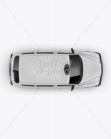 London Cab Mockup - Top View